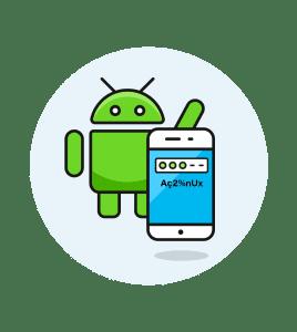 Establece una contraseña alfanumérica en Android